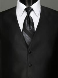 Reflections Black Stripe Tie