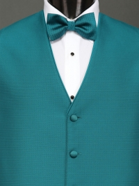 Sterling Teal Bow Tie