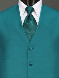 Sterling Teal Paisley Tie