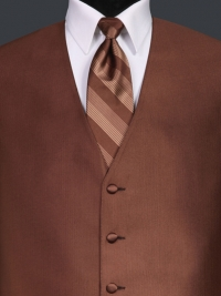 Reflections Cocoa Stripe Tie