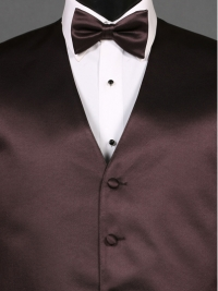 Simply Solid Truffle Bow Tie