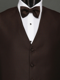 Sterling Chocolate Bow Tie