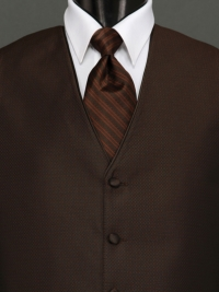 Sterling Chocolate Stripe Tie