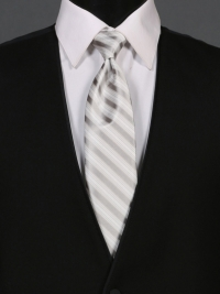 Multi-Stripe Llight Silver Tie