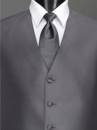Reflections Pewter Solid Tie
