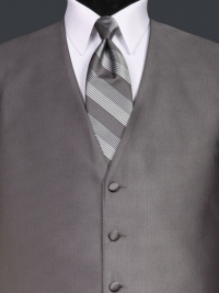 Reflections Pewter Stripe Tie