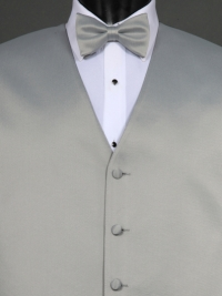 Simply Solid Platinum Bow Tie