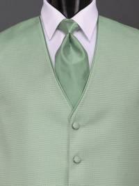 Sterling Clover Solid Tie