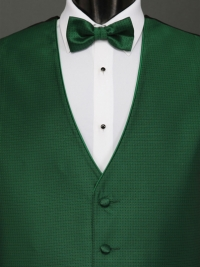 Sterling Emerald Bow Tie
