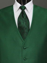 Sterling Emerald Paisley Tie