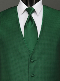 Sterling Emerald Solid Tie