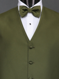 Sterling Olive Bow Tie