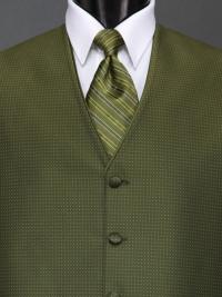 Sterling Olive Stripe Tie