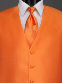 Reflections Tangerine Stripe Tie