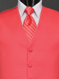 Sterling Salmon Stripe Tie