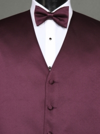 Simply Solid Plum Bow Tie