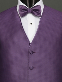 Sterling Amethyst Bow Tie