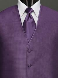 Sterling Amethyst Solid Tie