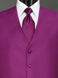 Sterling Violet Solid Tie