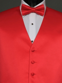 Solid Satin Strawberry Bow Tie