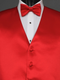 Simply Solid Ruby Bow Tie