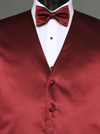 Simply Solid Wine Bow Tie