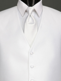 Reflections White Solid Tie