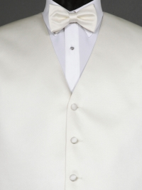 Simply Solid Ivory Bow Tie