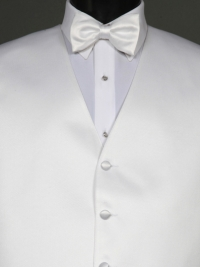 Simply Solid White Bow Tie