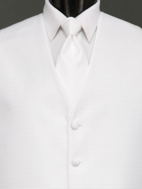 Sterling Pure White Solid Tie
