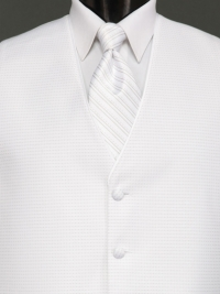 Sterling Pure White Stripe Tie